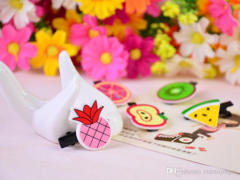 Dog Grooming Clip Pet Dog Hair Hairpin Cartoon fun personalized jewelry Acrylic simulation fruit hair clip