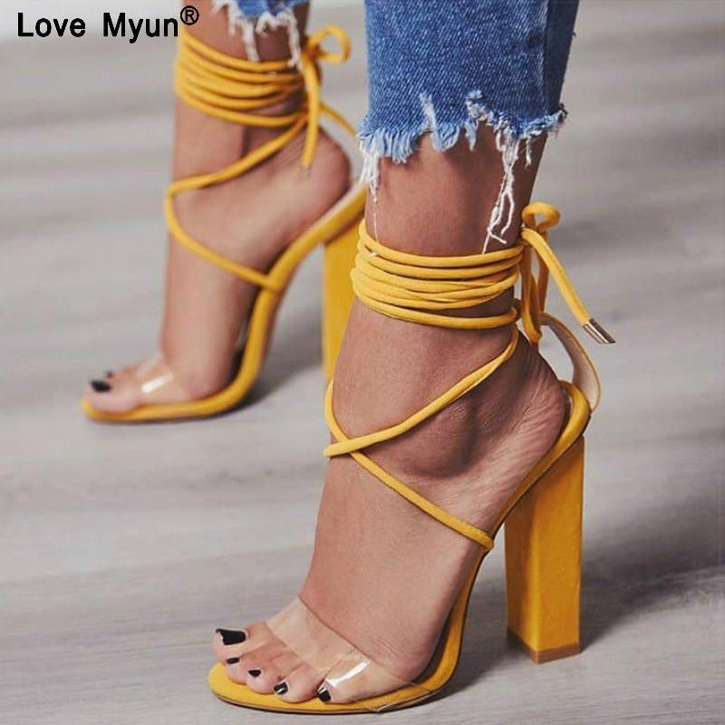 4560c2d4 Compre Bombas Para Mujer 2018 Sandalias De Tacón Alto De Verano PVC Transparente  Mujer Tacones Zapatos De Boda Casual Impermeable Sandalia Feminina88 A ...