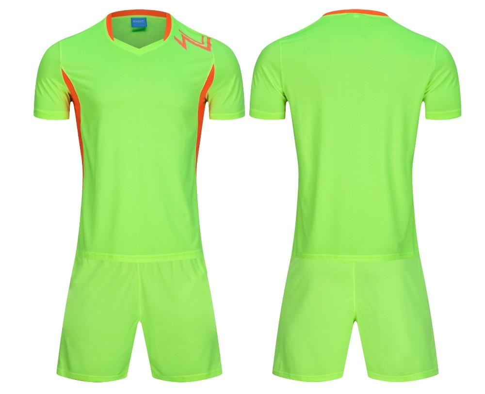 online retailer af1bc 65cfe 2018 Football Jerseys Set Men Soccer Jerseys Set Button Adult Soccer  Uniforms Suits Custom Training DIY logo name