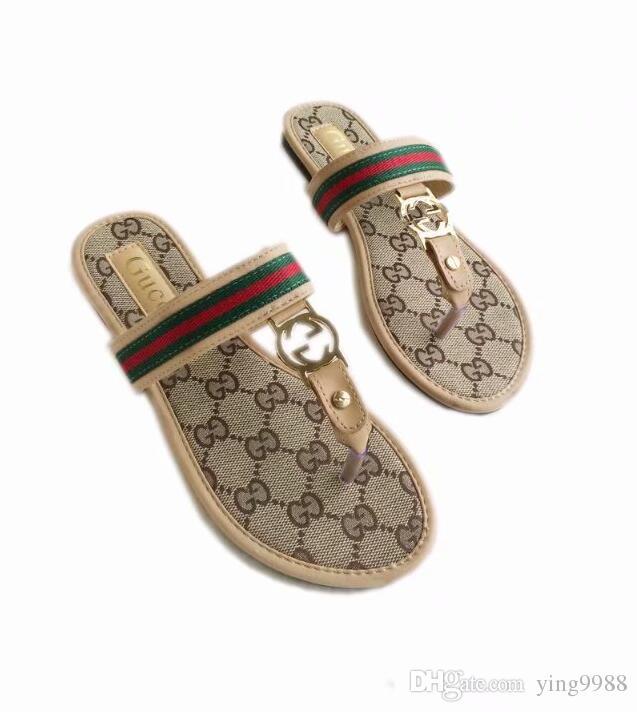 644339b3df56 Brand Women Sandals Big Size 35-42 Designer Shoes Luxury Slide Summer  Fashion Wide Flat Slippery With Thick Sandals Slipper Flip Flops Women  Sandals Women ...
