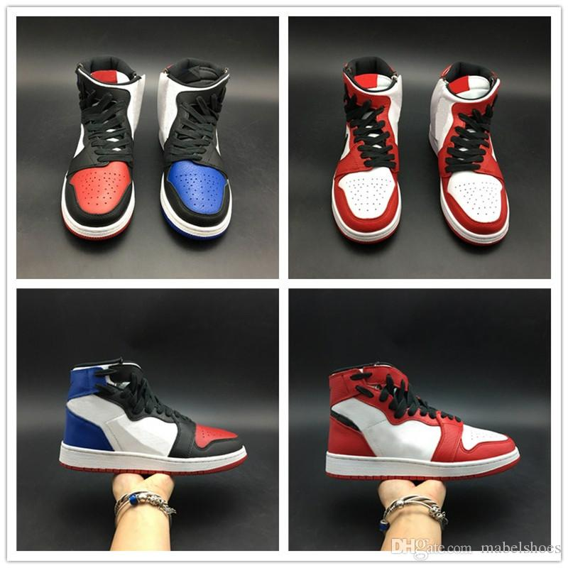 online retailer 2361f 38d25 2018 Basketball Shoes 1s REBEL XX OG TOP 3 Blue Red White Upper Leather  Chicago Mens Women Trainer Sneakers With Box Shoes Jordans Sneakers On Sale  From ...