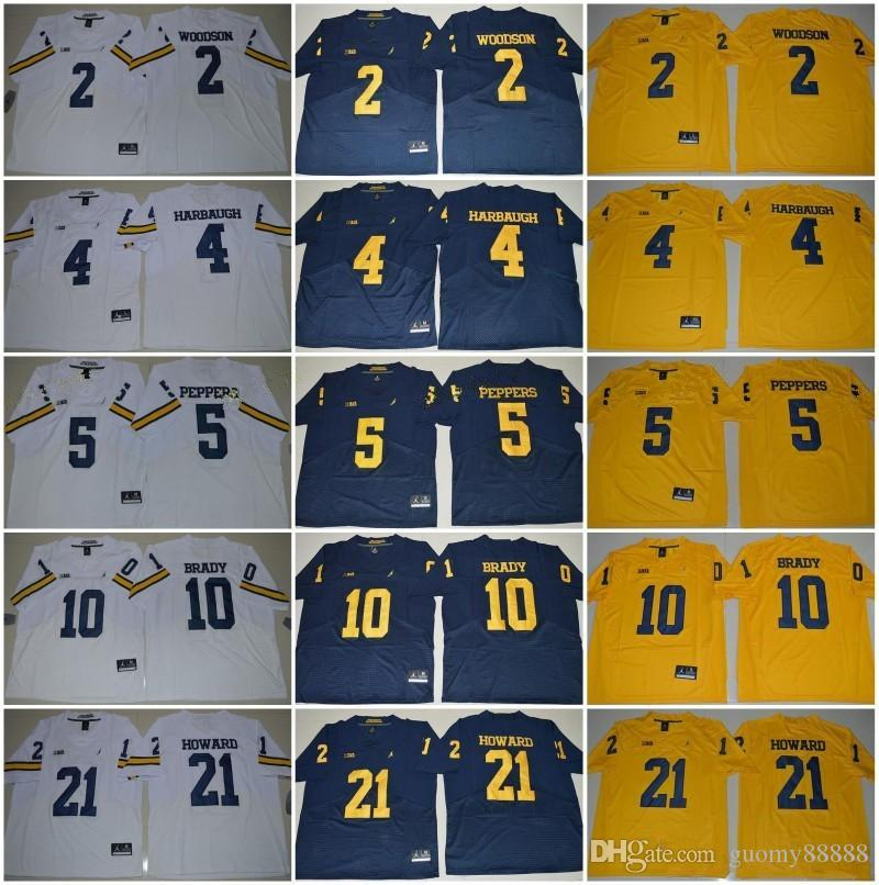 2018 Michigan Wolverines 3 Rashan Gary 21 Desmond Howard 10 4 Jim Harbaugh Charles  Woodson Jabrill Peppers College Football Jersey UK 2019 From Guomy88888 17f8a985e