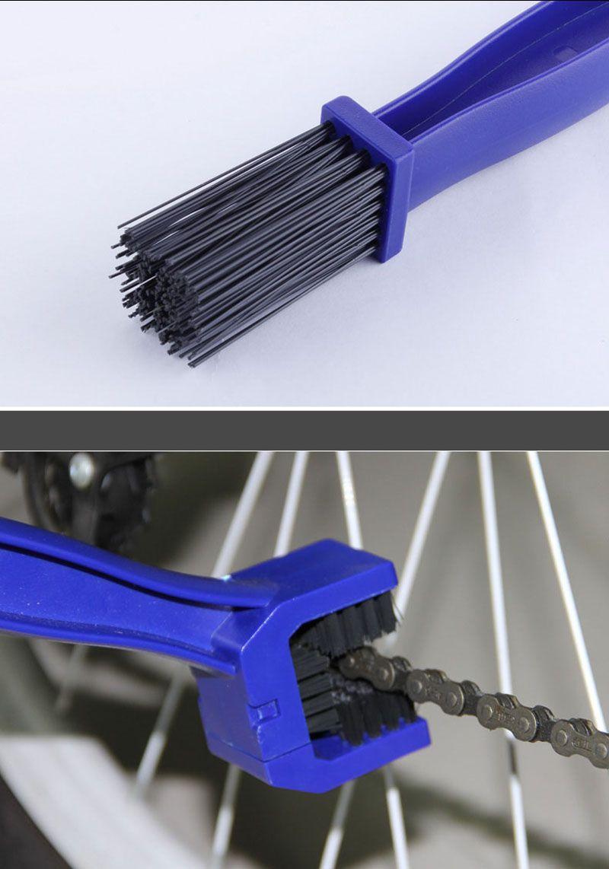 Tank pad decals Brushs Cycling Motorcycle Bicycle Chain Crankset Brush Cleaners Cleaning Tool Cleaner For Honda Kawasaki Suzuki Yamaha