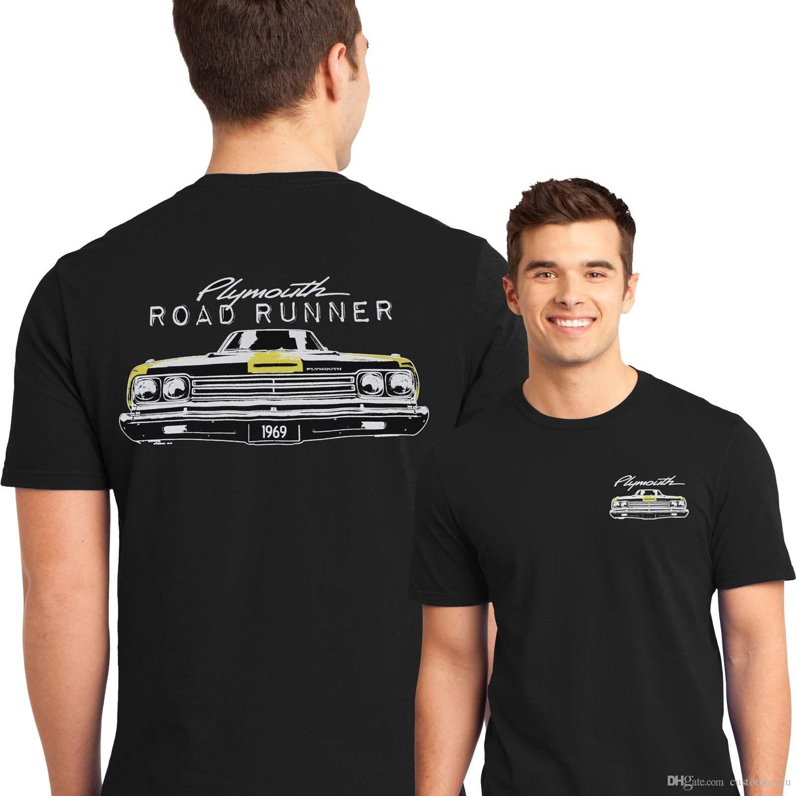 02c1719a Muscle Car T Shirt 1969 Plymouth Road Runner Mopar Mens Sizes Small To 6Xl T  Shirt Men Man'S Gorgeous Short Sleeve Thanksgiving Day Custom 3 Funniest T  ...