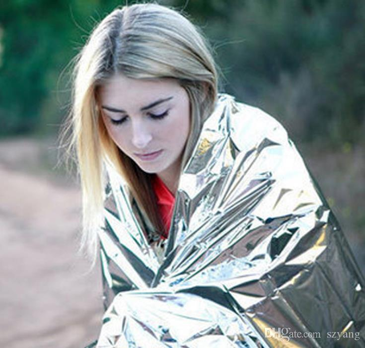Multi-function Outdoor Camping Waterproof Emergency Survival Insulation Foil Thermal First Aid Rescue Blanket Disaster Response Tool SN1063