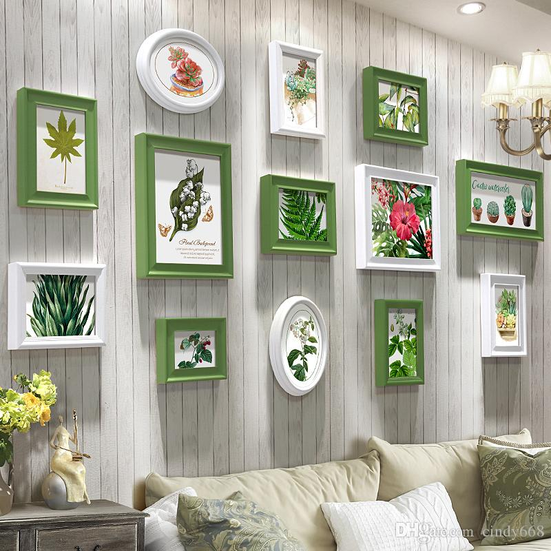 2019 White Photo Frame For Sofa Background Picture Dining Room Wood Vintage Wall Art Retro Living Hanging Photos From Cindy668