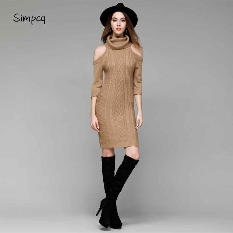2019 Elegant Sexy Strapless Knitted Sweater Autumn Winter Black Long  Pullover Women Tops Slim Turtleneck Jumper Casual Pull Femme From  Wangbin0629 65dc3b6f6