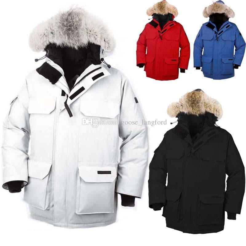 buy online 86580 bd48d Gänsedaunenjacke für Männer Winter -40 Grad Mantel Gans Herren Expedition  Parka Gänsedaunen Federjacke Pelzkragen für die Antarktis