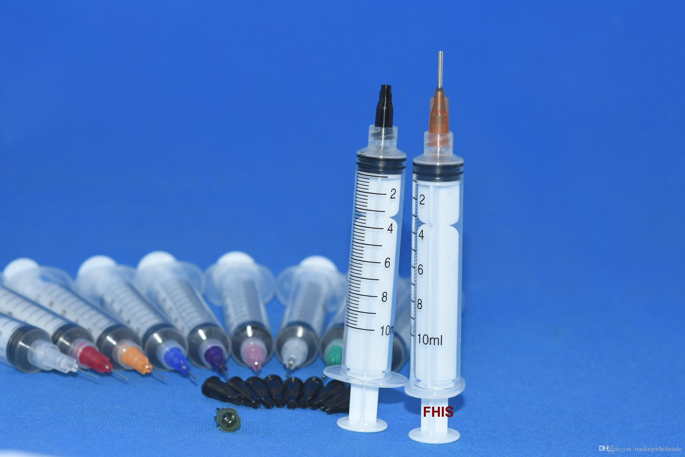 10ml Industrial Syringes with plastic Mixed size Blunt Tip Fill Dispensing Needle Total 33PCS