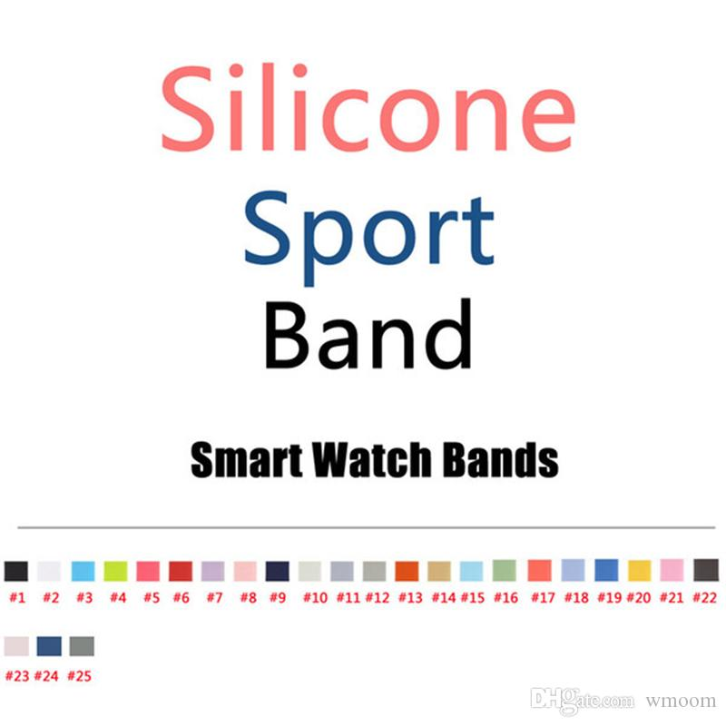 Watch Band Rubber Strap For Watch Silicone Smart Watch Bracelet Replacement Band 38mm 42mm 40mm 44mm Sports Edition