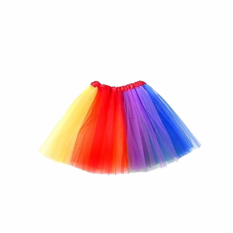 Colorful Kids Girls Rainbow Tutu Skirt with Unicorn Hair Hoop headband leggings socks gloves Set for Children Ballet Dance Party Costumes