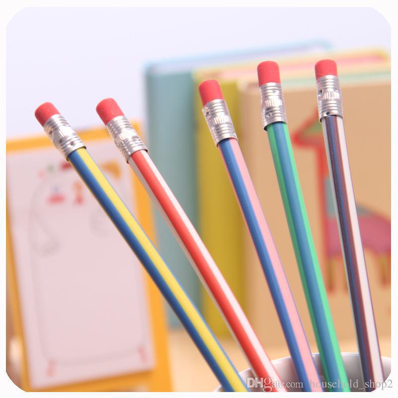 2018 Corea Carino flessibile morbida matita con cancelleria scuola cancelleria Colorful matite elastiche matite studente scuola forniture ufficio