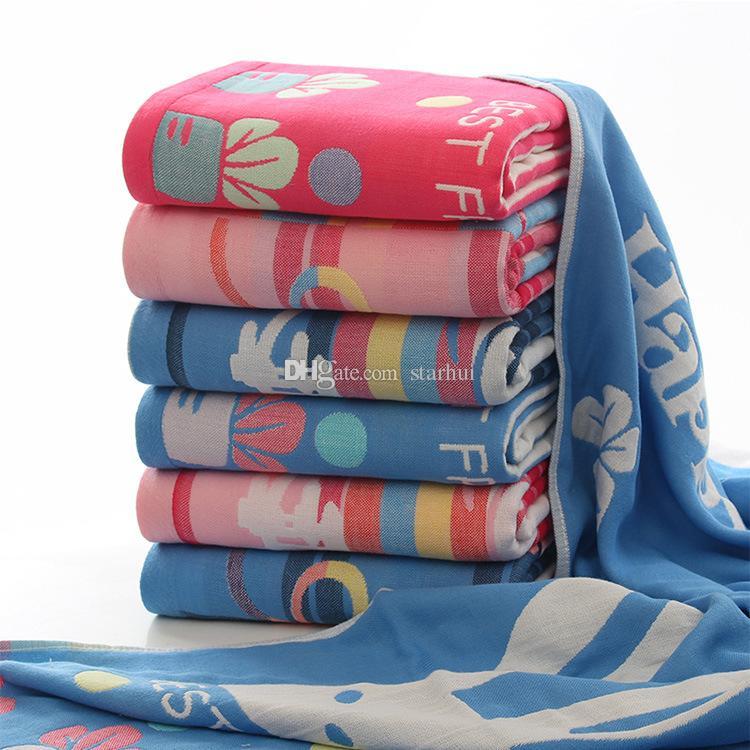 Asciugamano da bagno di alta qualità adulti bambini fumetto confortevole tre strati garza da bagno asciugamano accessori il bagno spedizione gratuita dhl 70 * 140 cm WX9-454