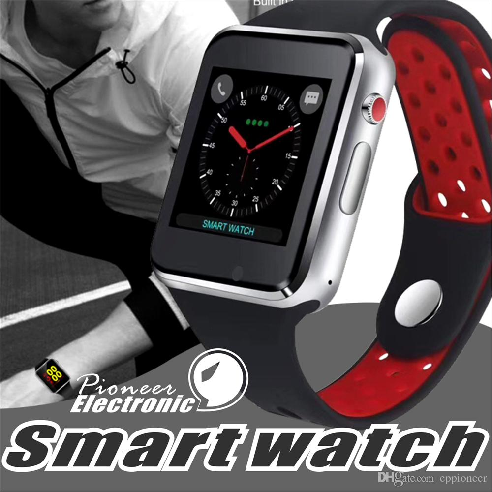 4539a873e43 For Apple M3 Goophone Smart Watch Smartwatch 1.54 Inch LCD OGS Capacitive  Touch Screen SIM Card Slot Camera For Iphone PK DZ09 Iwatch Fitbit Ios Smart  ...