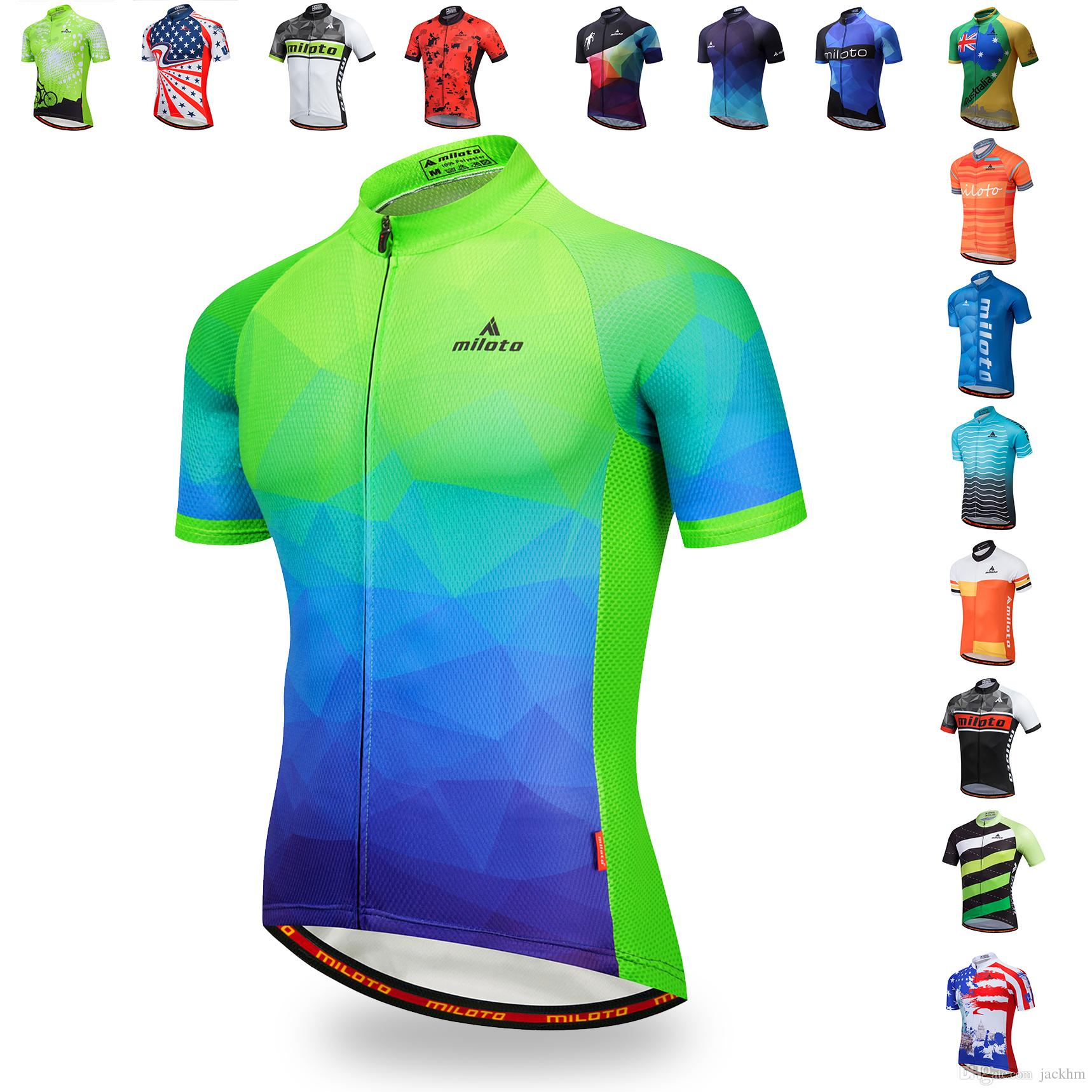 Low Price Promotion Oem ODM MILOTO 2018 Cycling Jersey Summer Racing Cycling  Clothing Ropa Short Sleeve Mtb Bike Jersey Maillot Ciclismo Mens Shirts  Shirts ... 2c45ccead