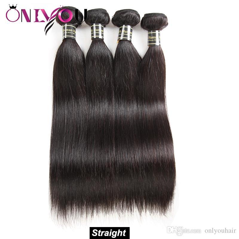 La calidad superior del pelo virginal brasileño de la promoción del pelo embroma 10A El pelo indio remy indio peruano cruda de la original del negro teje