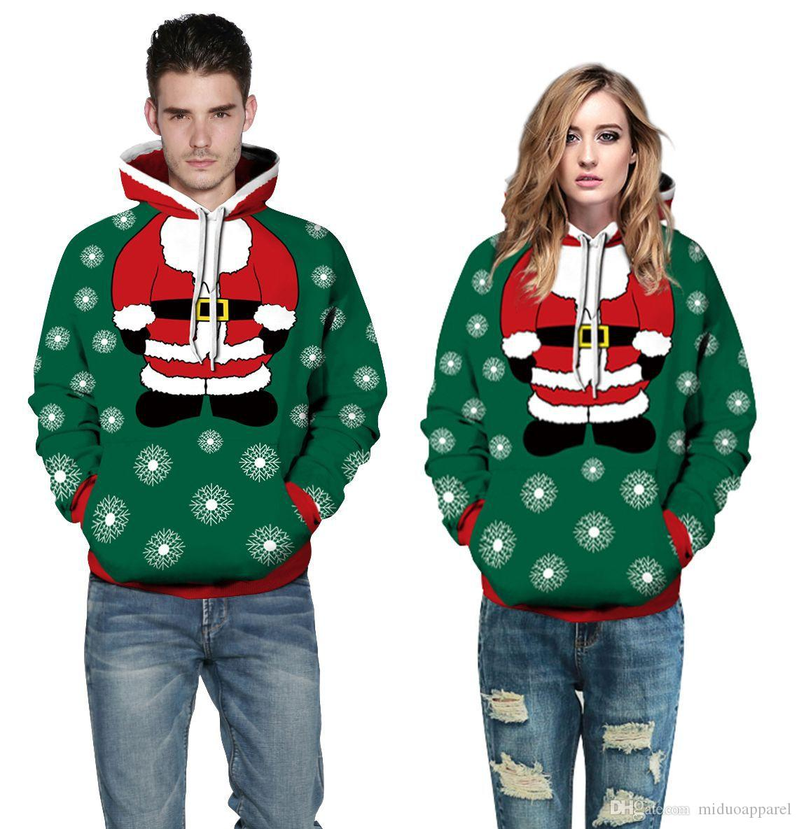 f89f91cbbc98 2019 Cool Style Unisex Merry Christmas Style Hoodie   Sweatshirts For Man  And Women Gift Funny Pattern Size S 3XL From Miduoapparel