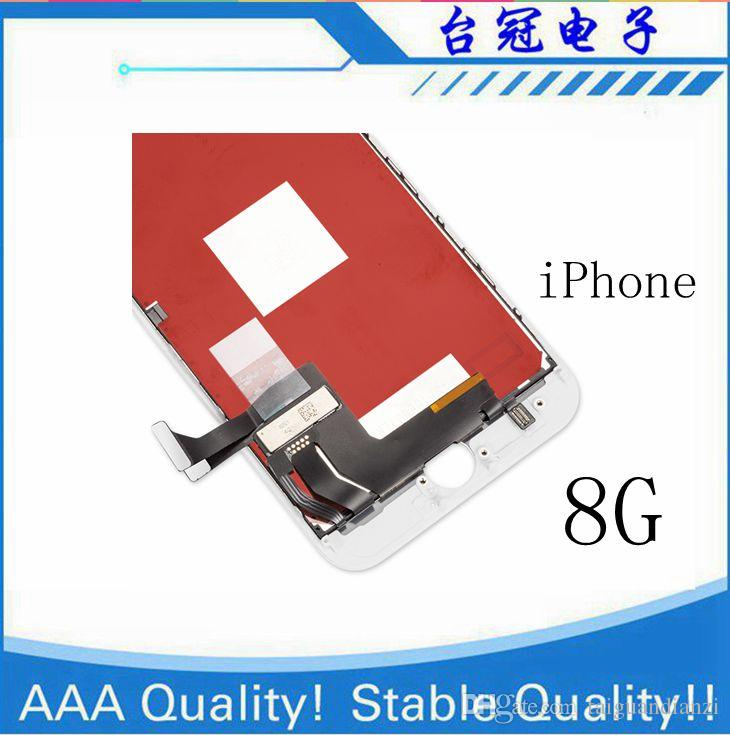 IPhone 8 LCD Için 3D Dokunmatik Ile iphone 8g lcd 100% Garanti Yok Ölü Piksel Ekran Değiştirme Yüksek kalite Ekran