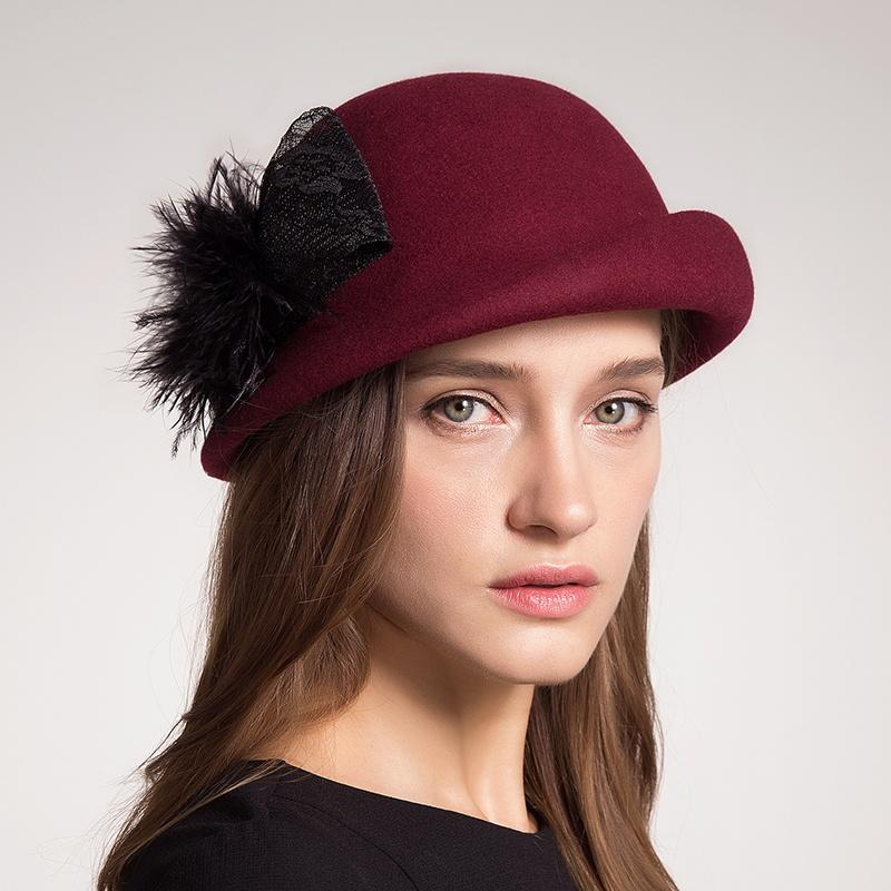 2019 Autumn Winter Women Beret Hats 100% Australia Wool Artist Felt Berets  French Bow Boina Feminino Hats Elegant Ladies Girl Berets From Saucy 31233021a860