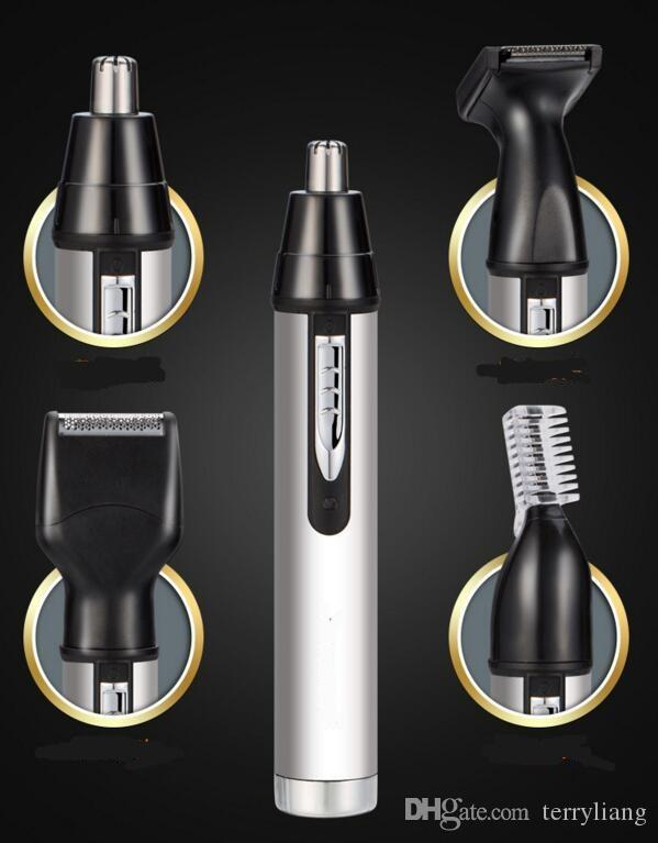 Professional 4 in 1 electric nose trimmer rechargeable men's ear nose hair cutter man grooming kit face care beard shaver 220v
