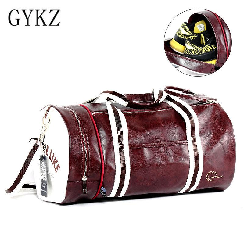 f519ec47e5 2019 GYKZ Portable Outdoor Training Shoulder Bags Large Capacity Sport Gym  Bag Fitness Bag For Women And Men Leather Duffle HY034 From Onecherry
