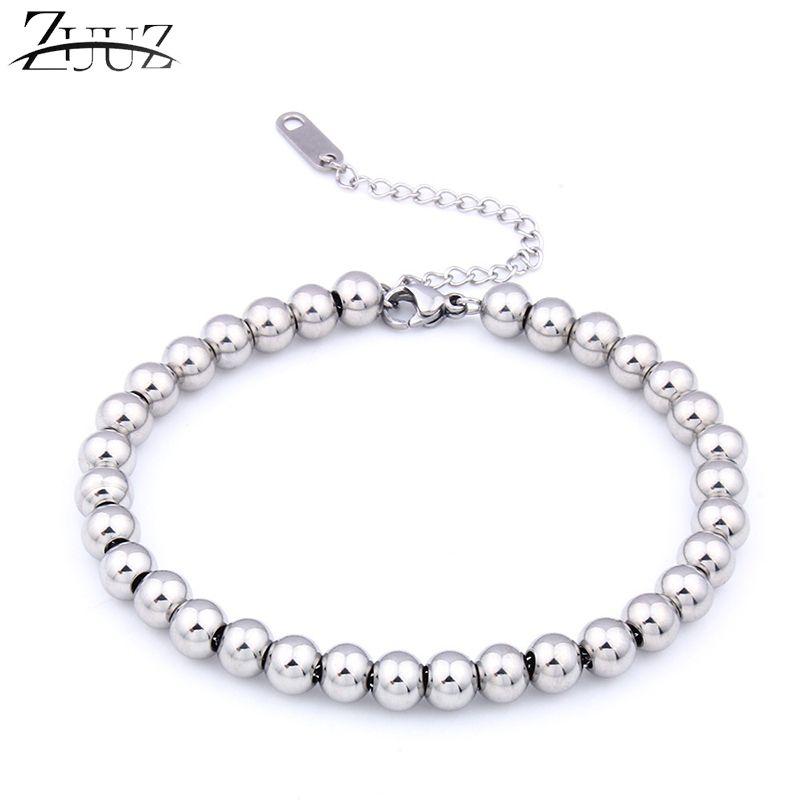6af68ba379a Acheter ZUUZ Argent Or Perles Noires Bracelet Bijoux Accessoires Pour Femmes  Bracelets Femmes Bracelets Charme Chaîne Lien Amitié Femme De  36.98 Du ...