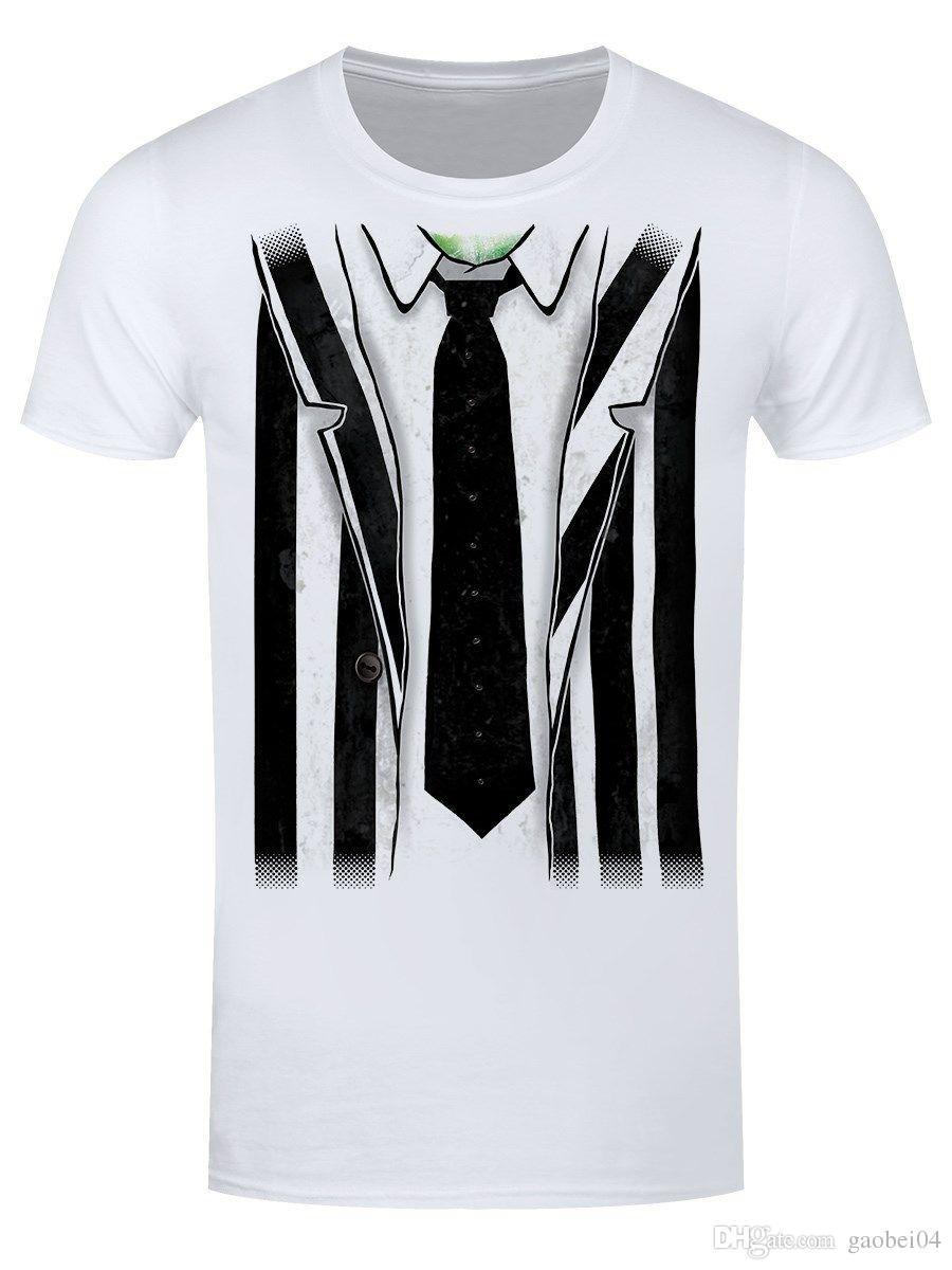 3da730bbbf188 Acheter Beetlejuice Costume Homme T Shirt Blanc Imprimé Tees Style Eté Homme  Harajuku Top Fitness Marque Vêtements Normal De $10.9 Du Gaobei04 |  DHgate.Com