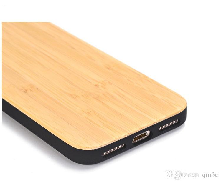 Bester Preis-stoßfestes Holz-Kasten für iphone X 7 8 PLUS 6 6s 5 Handy-Abdeckung TPU hölzerner Fall-rückseitige Abdeckung für Rand Samsungs-Galaxie S9 S8 S7 S6