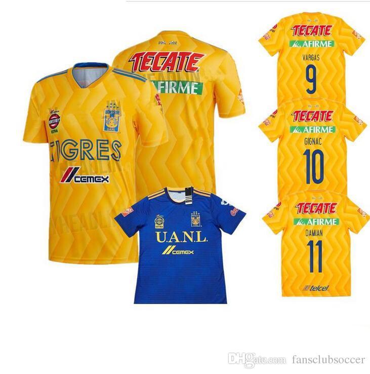 2019 NEW 2018 TIGRES DE LA UANL Soccer JERSEY 18 19 TEAM GEAR LIGA MX  Maillot De Foot Home Yellow Away Blue 6 Star GIGNAC Football Shirts Uniform  From ... 898425080