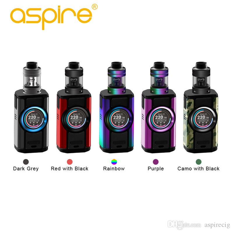 2018 Aspire Dynamo 220W Kit With 4ML Nepho Tank and Dynamo mod allows for use with 18650, 20700 or 21700 Original electronic cigarettes
