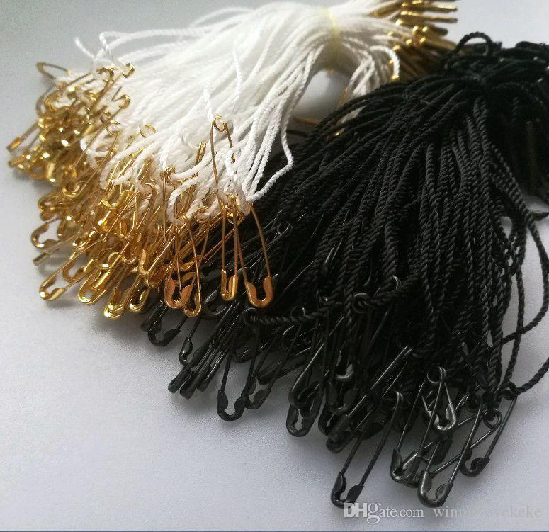 1000 pezzi confezione / fibbia abbigliamento / sigillo a stringa / indumento imbragatura etichetta // spille di sicurezza in rame
