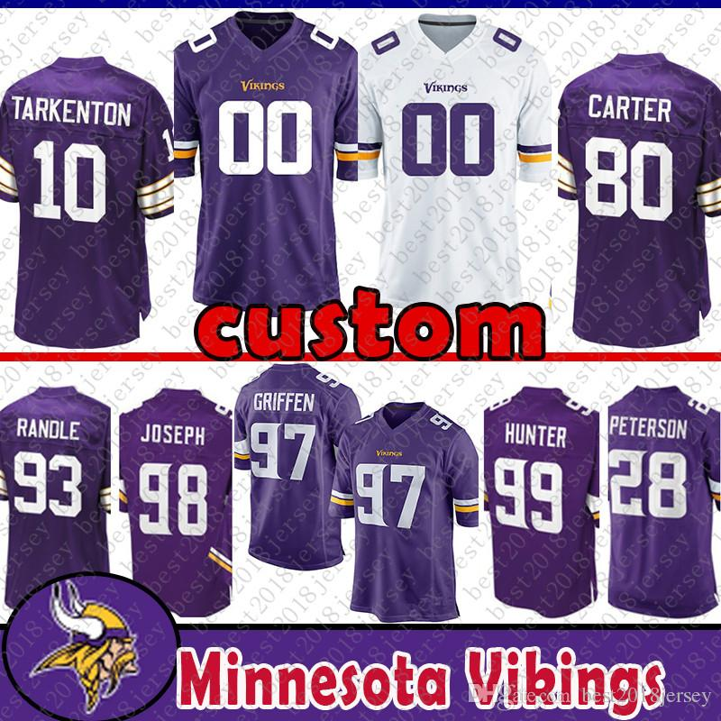 Top 2019 82 Kyle Rudolph Custom Jersey Minnesota Viking 99 Danielle  for sale