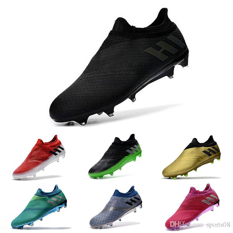 2018 Predator Mania Champagne New ACE 17.1 Purecontrol FG Football Boots  Mens Shoes Boots FG Messi Ace 16 Purechaos Cleats Laceless Cheap Messi Ace  16 ... 2b5cd2f24