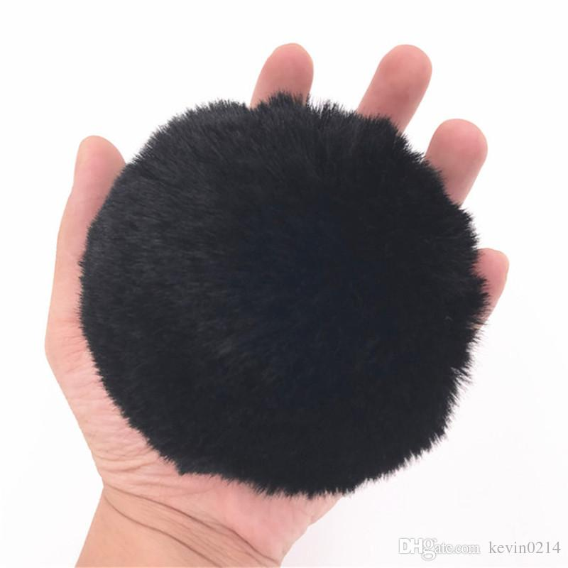 Anal Plug Stainless Steel Butt Plug Cute Rabbit Tail Anal Toys Butt Stopper Black Tail Plush Ball Anus Sex Toys for Couples H8-1-60C