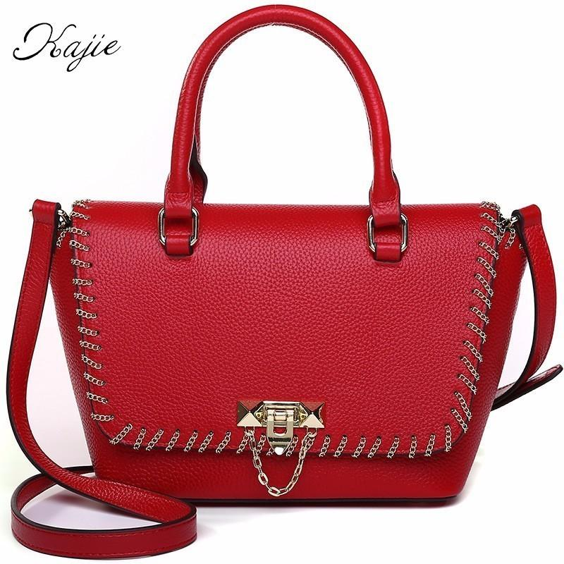 Kajie High Quality Genuine Leather Tote Female Luxury Ladies Handbags Sale  With Women Bags Designer Shoulder Bag Overnight Bags Black Bags From  Yunduoa 3bb8cd7337