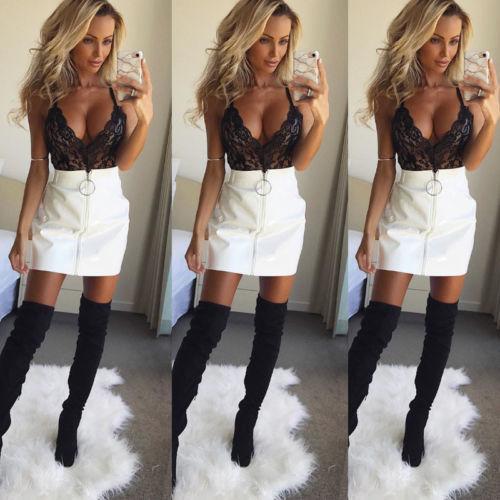 4a5b34bbc 2019 2019 Hot Women High Waist Mini Skirts Short Sexy White Black S XL From  Your03, $21.65   DHgate.Com