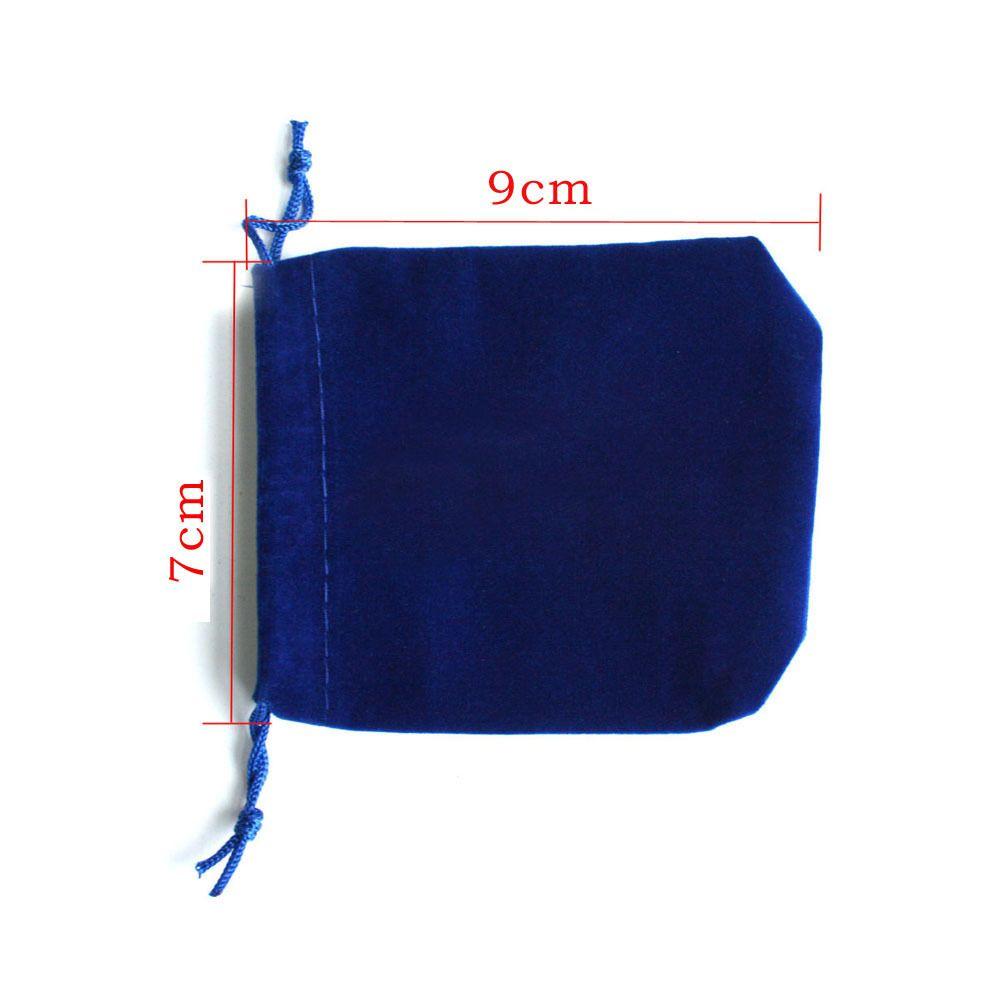 7x9cm Sac de sac de cordon / sac à bijoux en velours bleu foncé, Sac de cadeau de mariage / Noël PS-PDA01-01DBL