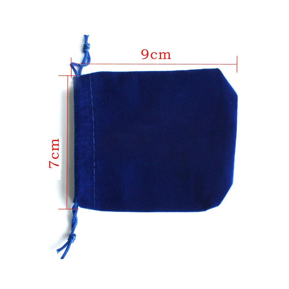 7x9cm sacchetto del sacchetto del cordone di velluto blu scuro / sacchetto dei monili, sacchetto del regalo di nozze / di Natale PS-PDA01-01DBL