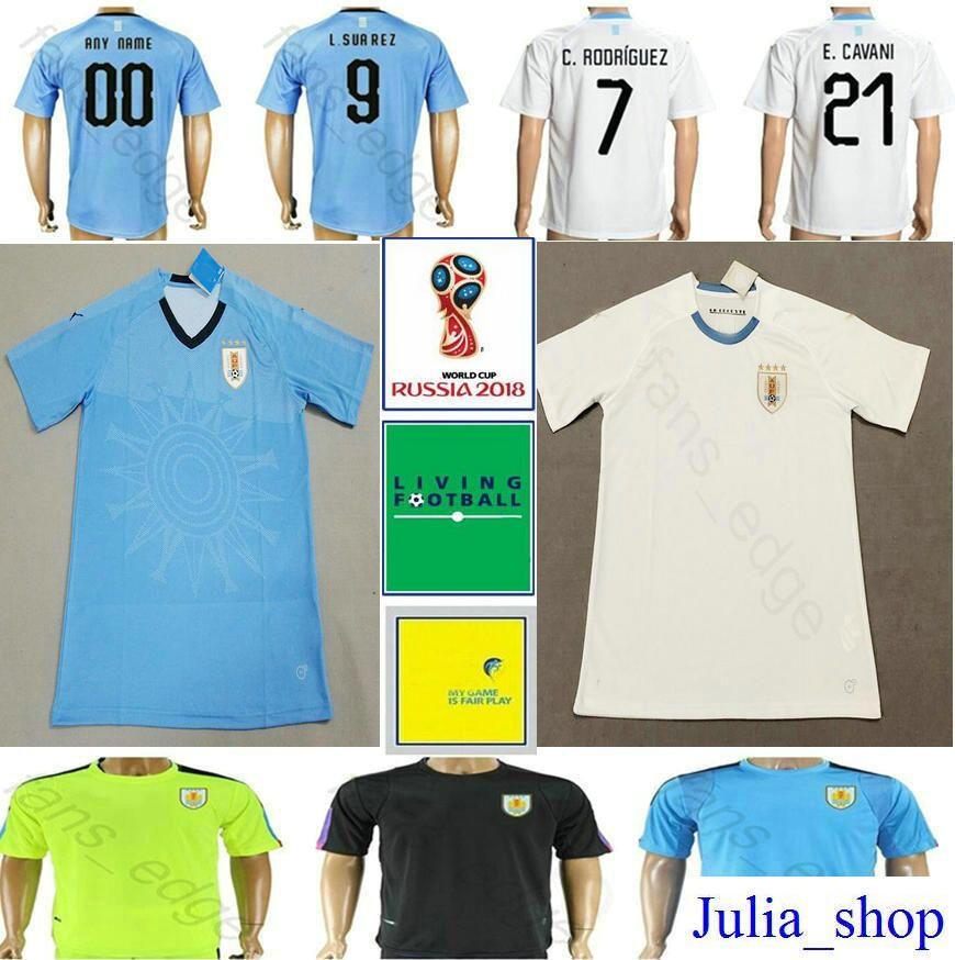 f04eaed15 2018 World Cup Uruguay Soccer Jerseys 9 L.SUAREZ 10 DE ARRASCAETA 21 ...