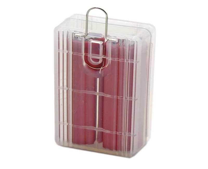 2* 18650 Battery Storage Box RCR123 16340 Empty Hard Plastic Case Cover Holder Container Bag Organizer Boxes