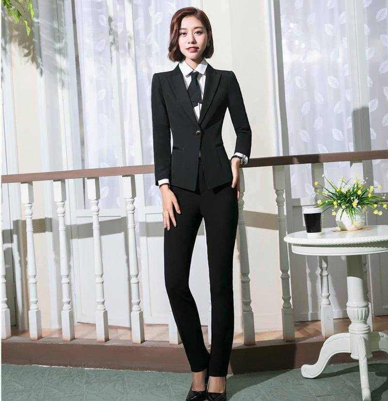 545c68c56030 Acquista Abiti Da Ufficio Uniformi Design Abiti Da Donna Donna Con Pantaloni  E Giacche Set Da Donna Abiti Da Lavoro Blazer Suits A  77.76 Dal Morph1ne  ...