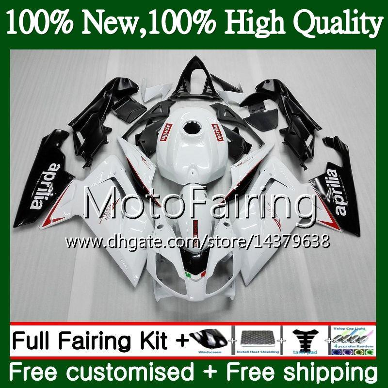 Inyección para Aprilia RS4 RSV125 06 07 08 09 10 11 RS-125 0MF13 RS 125 R RS125 2006 2007 2008 2009 2010 2011 Gloss white Fairing Carrocería
