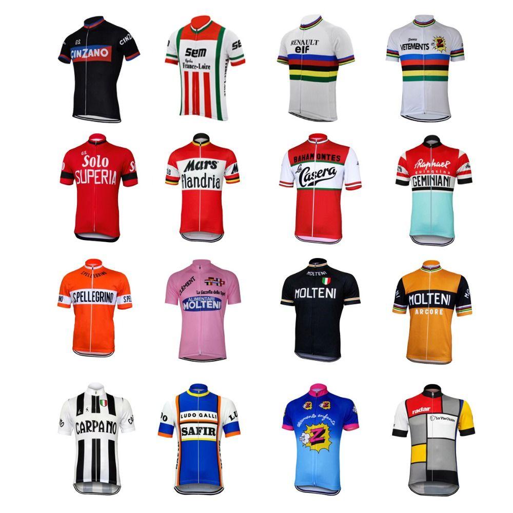 Compre 16 Estilo Retro Ciclismo Jerseys Verão De Manga Curta Desgaste Da  Bicicleta Vermelho Branco Rosa Preto Jersey Estrada Jersey Roupas De  Ciclismo ... f6c542b2cc22a