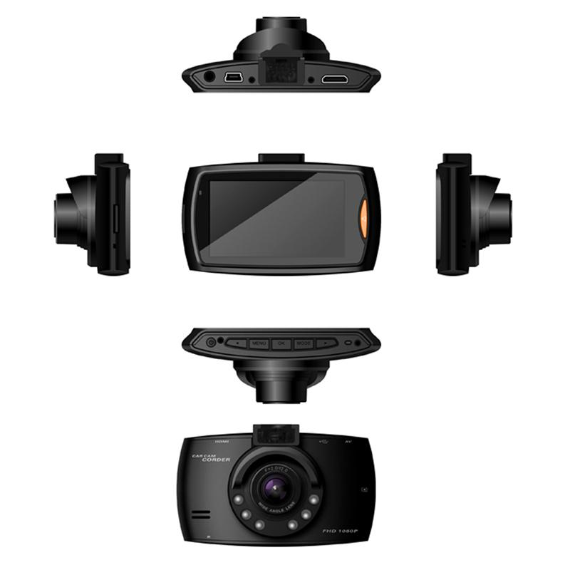 "Mini 2.7"" car DVR cam driving video recorder car black box FHD 1080P front 140° rear 100° loop recording G-sensor motion detection"