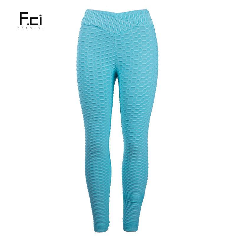5ab59a673d 2019 FRECICI Women Flaws Textured Leggings V Shape Waistband Scrunch Butt  Leggings Push Up Gym Active Pants Bubble From Jinzoug, $24.28 | DHgate.Com