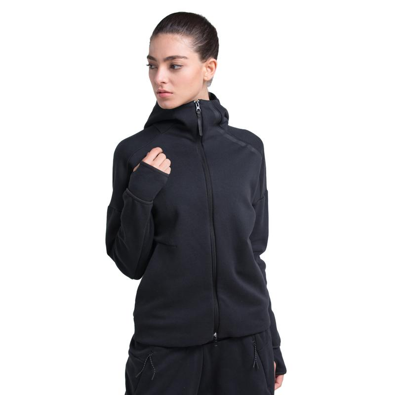 37fe2e462f8a 2019 Women Running Jacket Coat Sports Jogging Jogger Training Fitting  Fitness Clothes Gym Long Sleeve Jackets From Baibuju