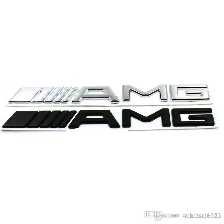 Neue 3d Abs Auto Aufkleber Für Mercedes Amg Logo Cla Gla W212 W211 W210 W202 Silber Schwarz Emblem Abzeichen Für Amg Aufkleber Auto Trunk Aufkleber