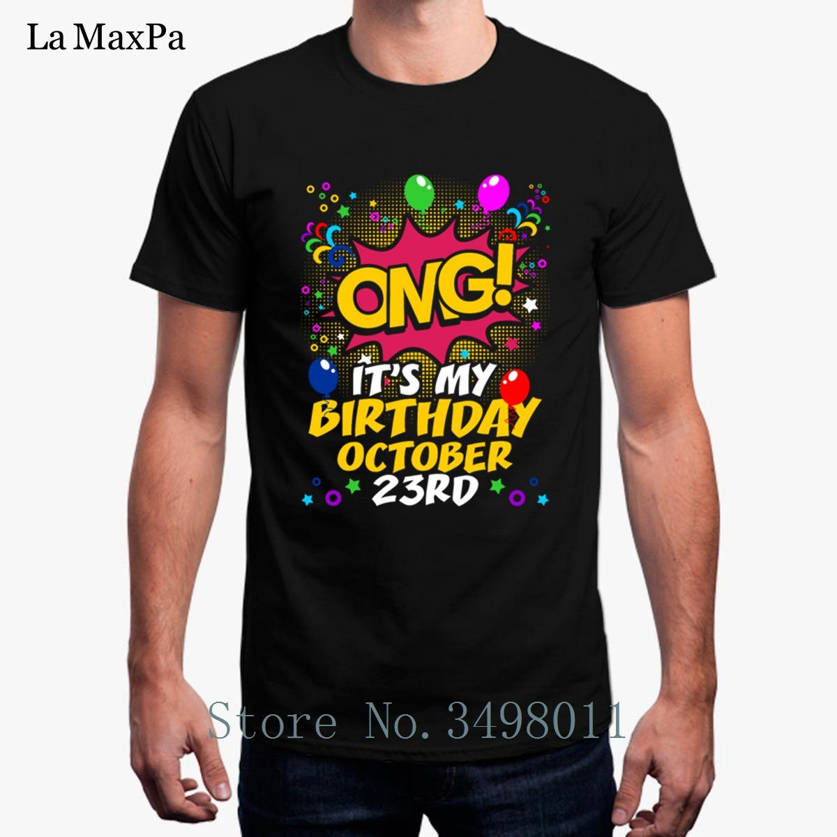 Grosshandel Printing Its My Birthday Oktober Zwanzig Third T Shirt