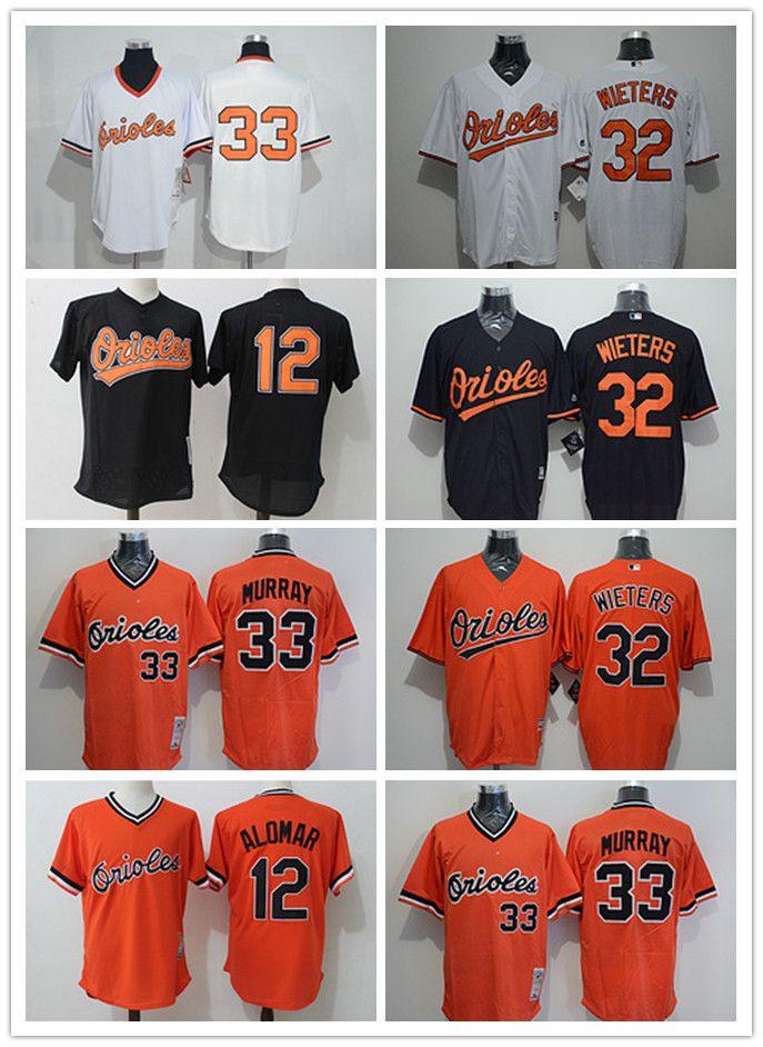 86f90c0bc1a custom Men's women youth Majestic Baltimore Orioles Jersey #32 Matt Wieters  33 Eddie Murray Home Orange Grey White Kids Baseball Jerseys