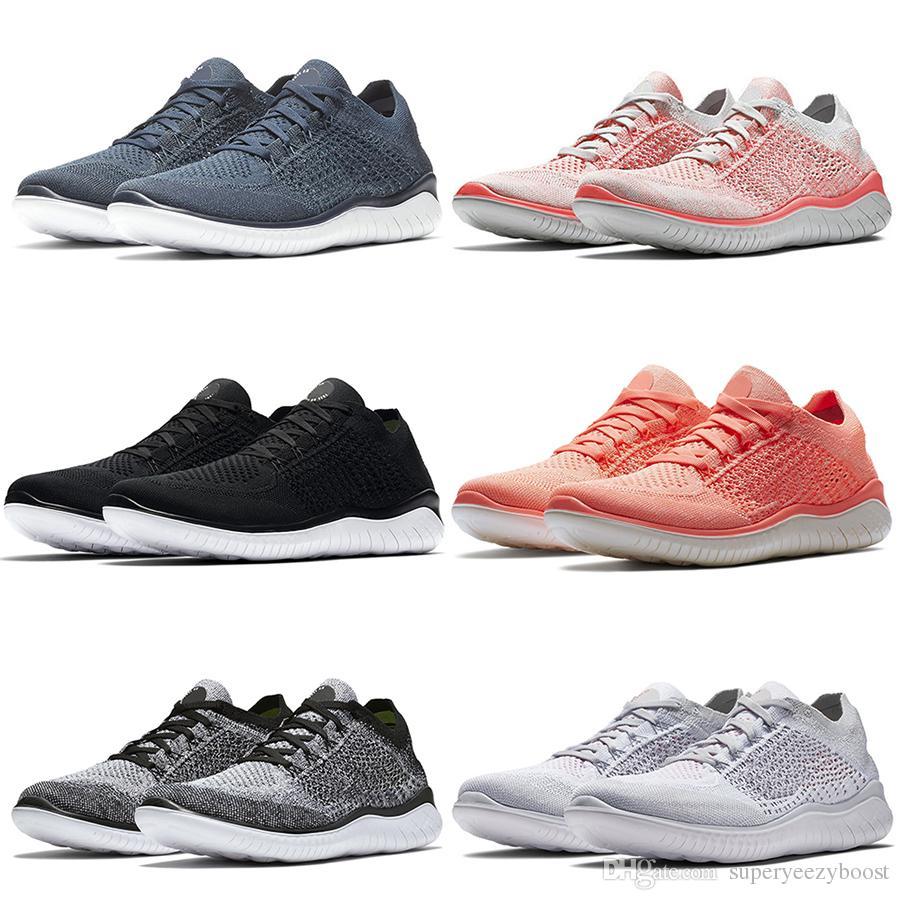 online retailer e10e4 a9198 Acheter Nike Flyknit Free Rn Fly Free RN 5.0 Chaussures De Course Hommes  2019 Nouveau Tricot Respirant Léger Formateurs Femmes Mode Bottes De  Jogging En ...